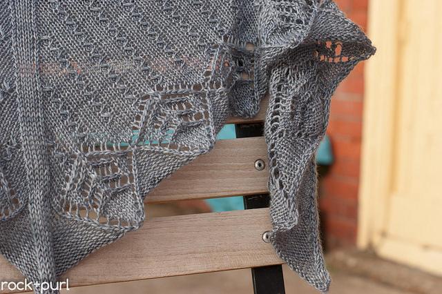 Rockpool, knit in Milky Way, shown in Slate.