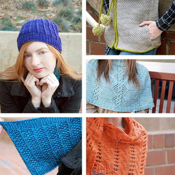 For Better or Worsted patterns by Angela Tong, Ruth Garcia-Alcantud, Katherine Vaughan, and Corrina Ferguson.