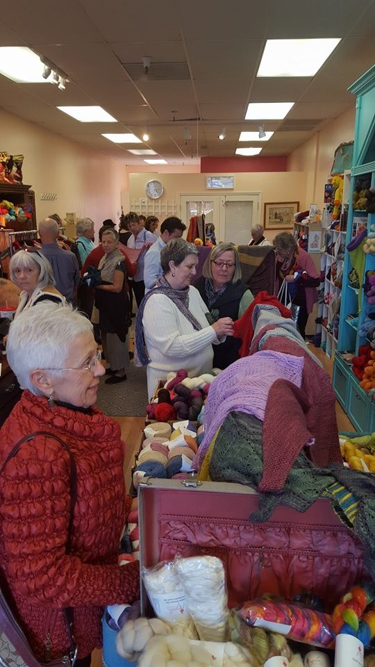 Shoppers at  The Sedona Knit Wits
