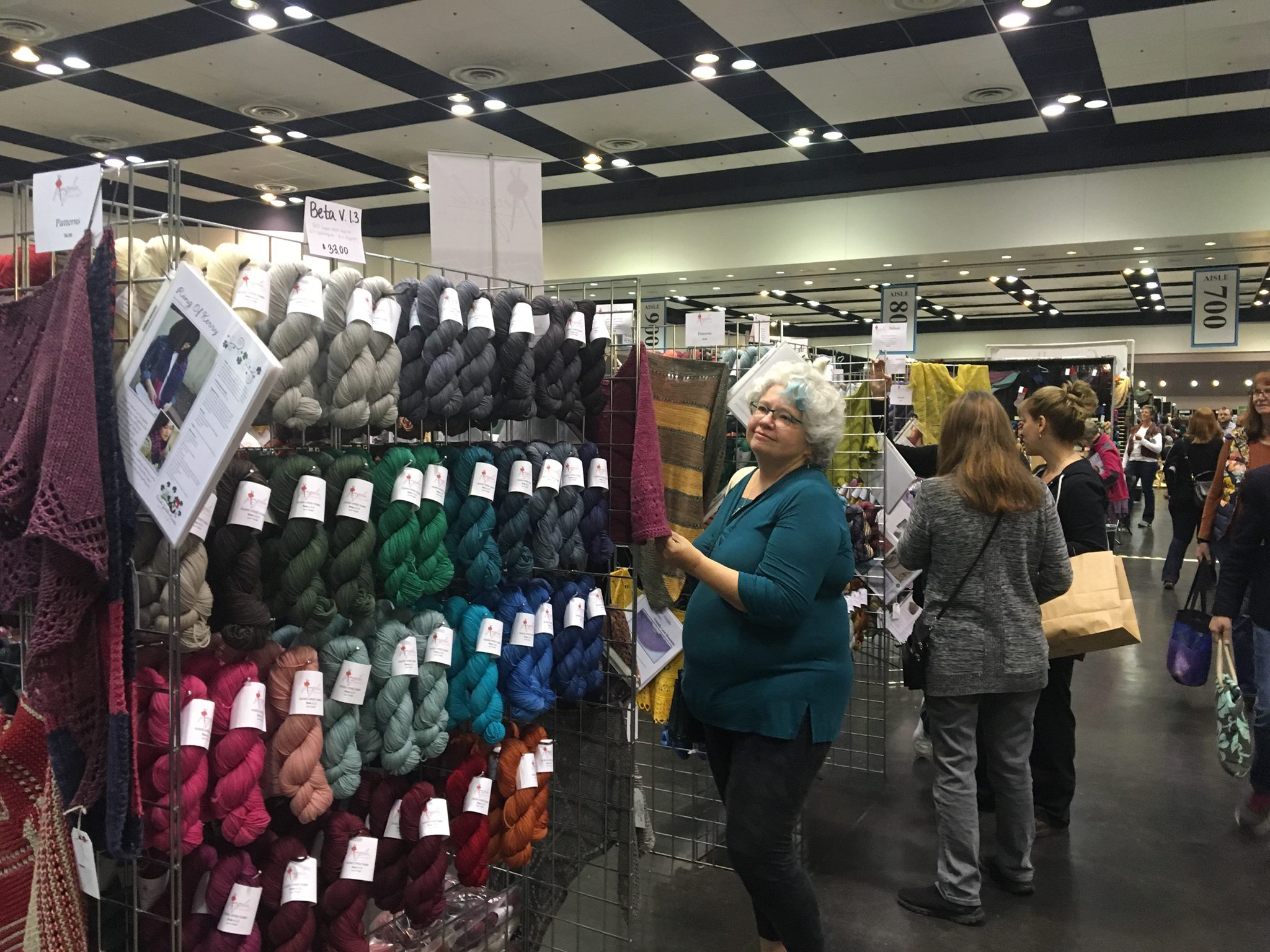 Happy yarn shoppers. Because how do you not walk around Stitches with a gigantic grin?