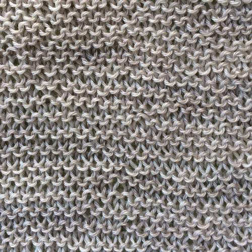 Milky Way in Garter Stitch, blocked.