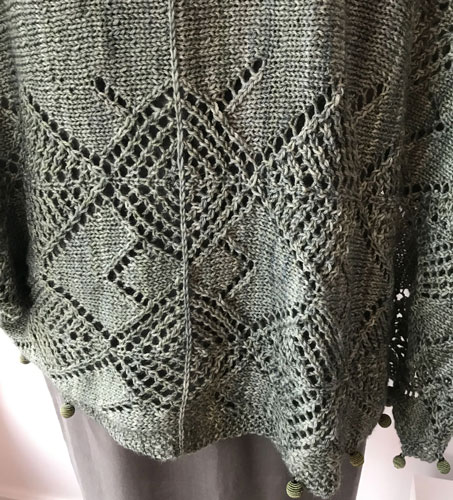 Center back bottom lace