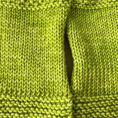 Stockinette Stitch Blocked vs. Unblocked