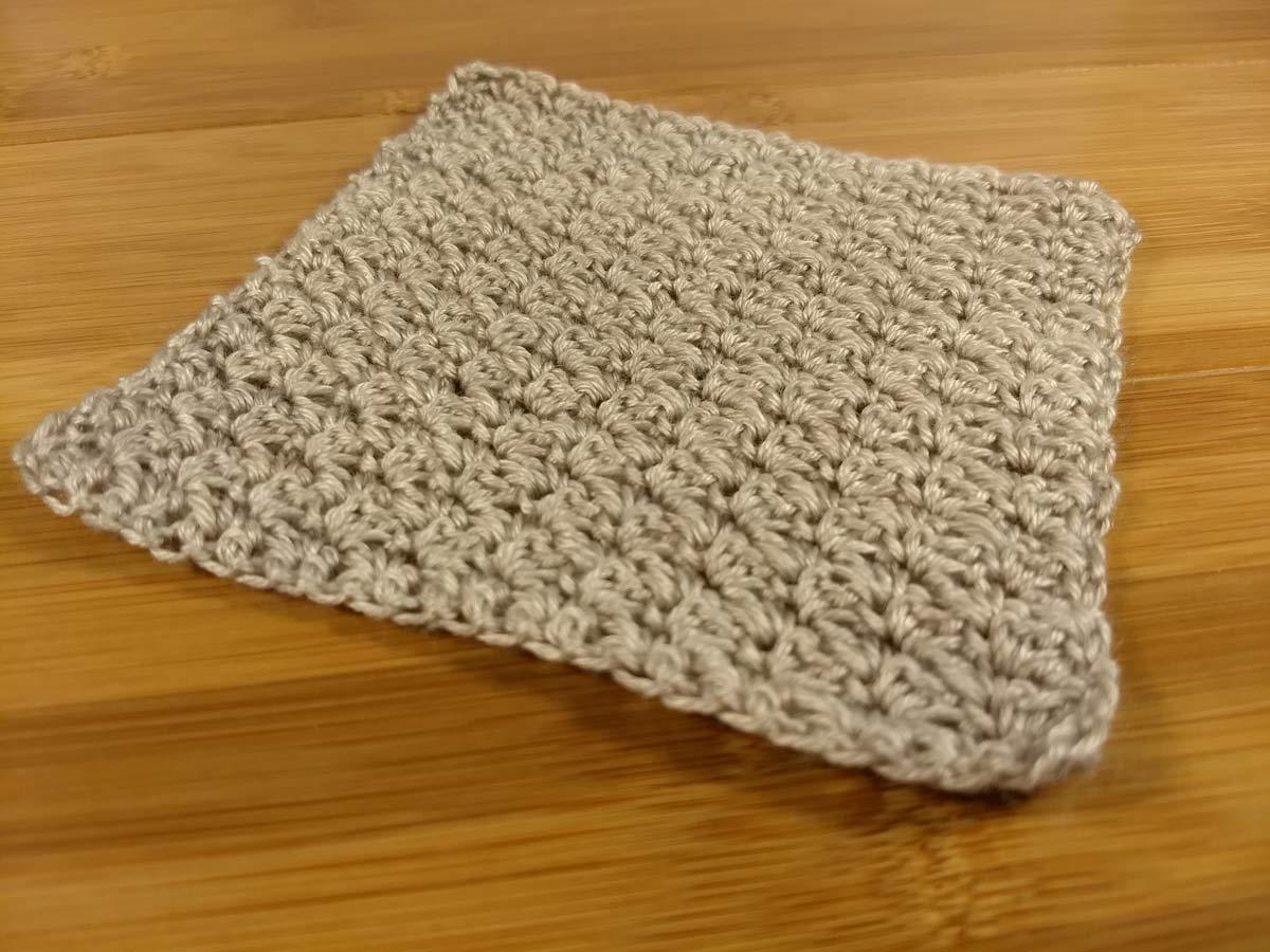 Milky Way crochet texture swatch.
