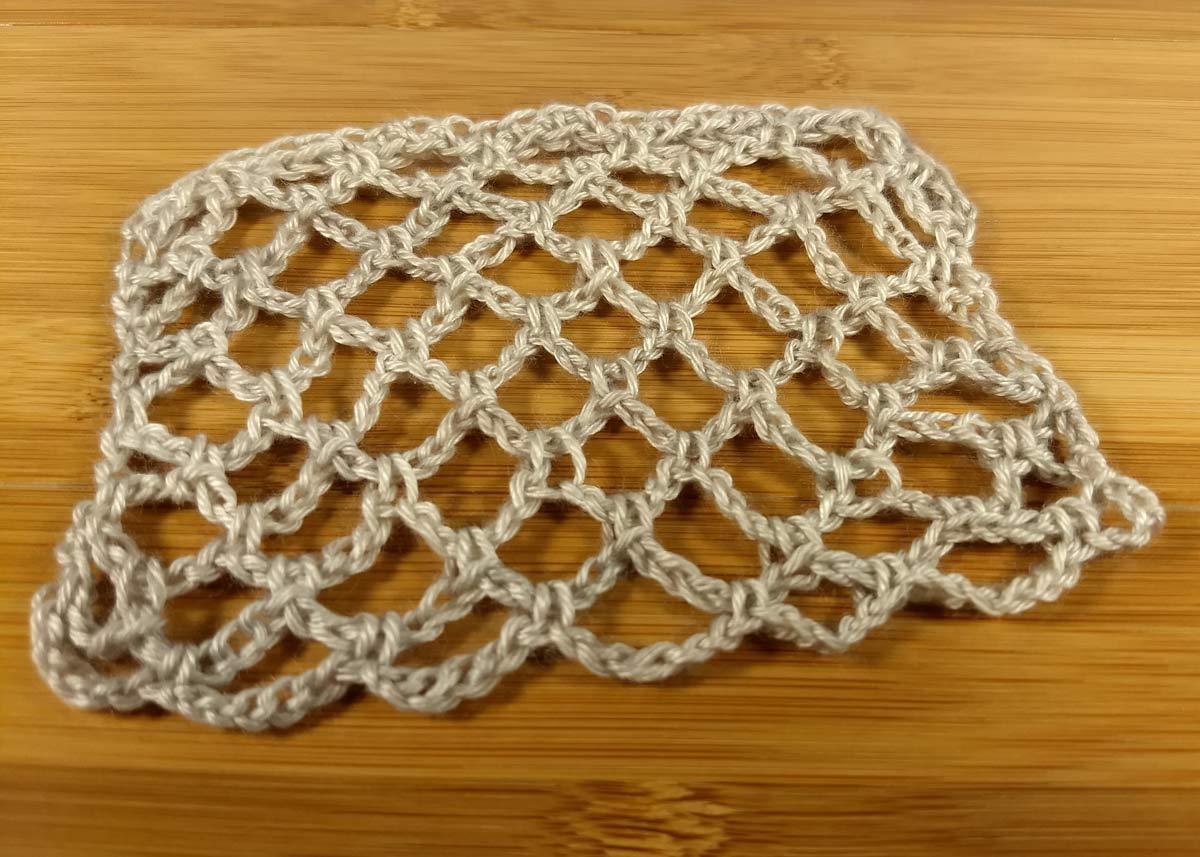 Net stitch in Anzula Milky Way.