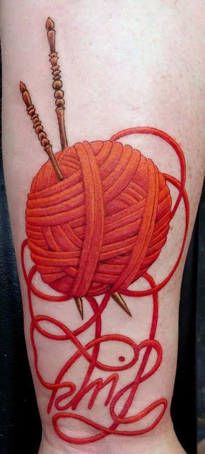"""Knit"" Tattoo, Claudia Donnelly"