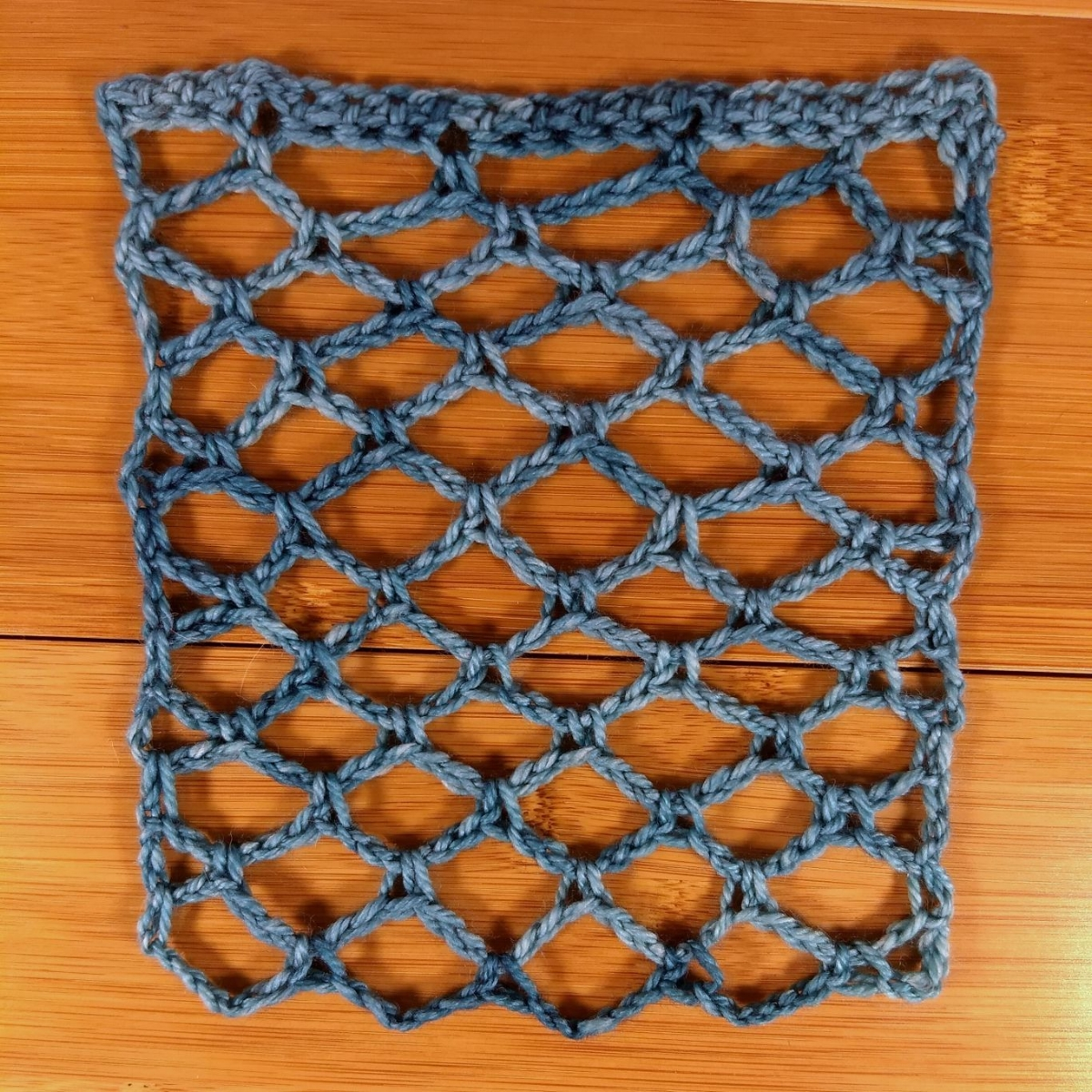 Squishy, crocheted lace swatch