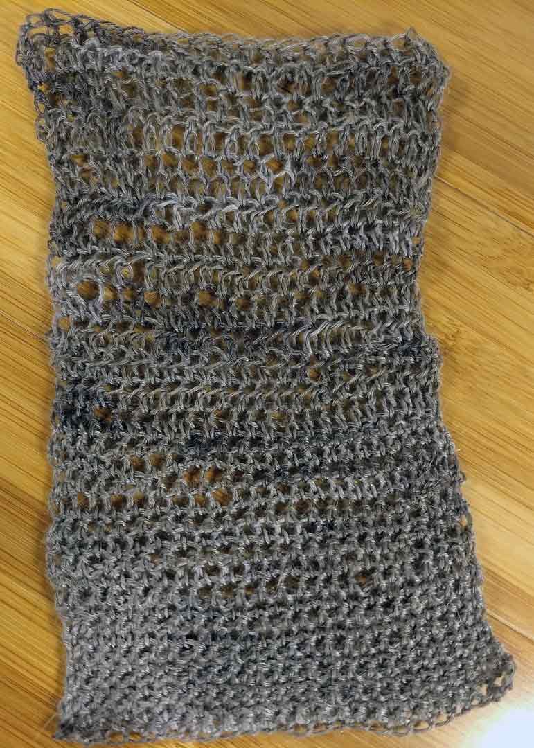 Meridian swatch, crochet