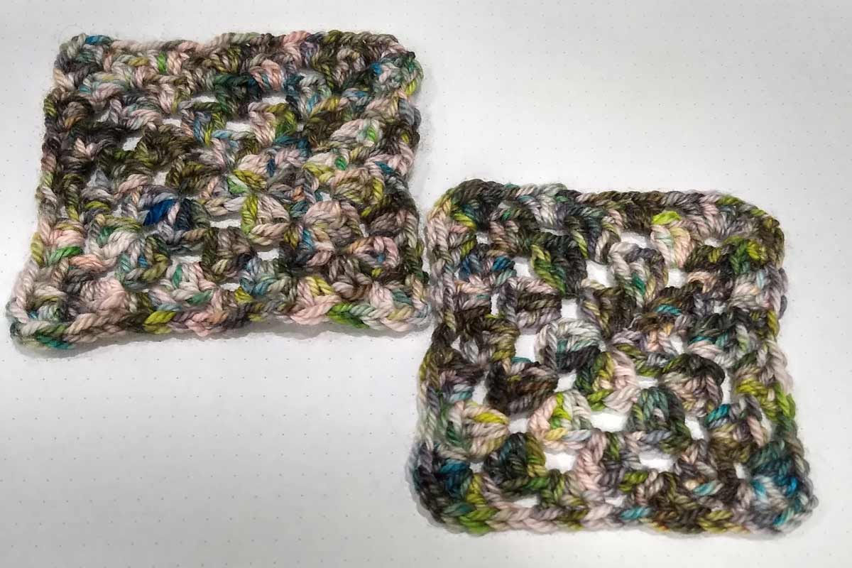 Dreamy swatches, granny squares
