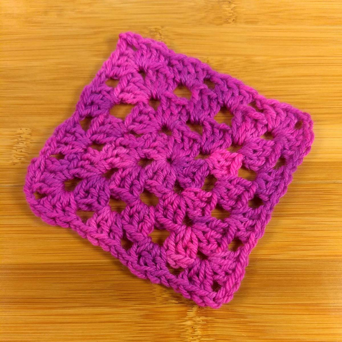 Ava crochet swatch, granny square