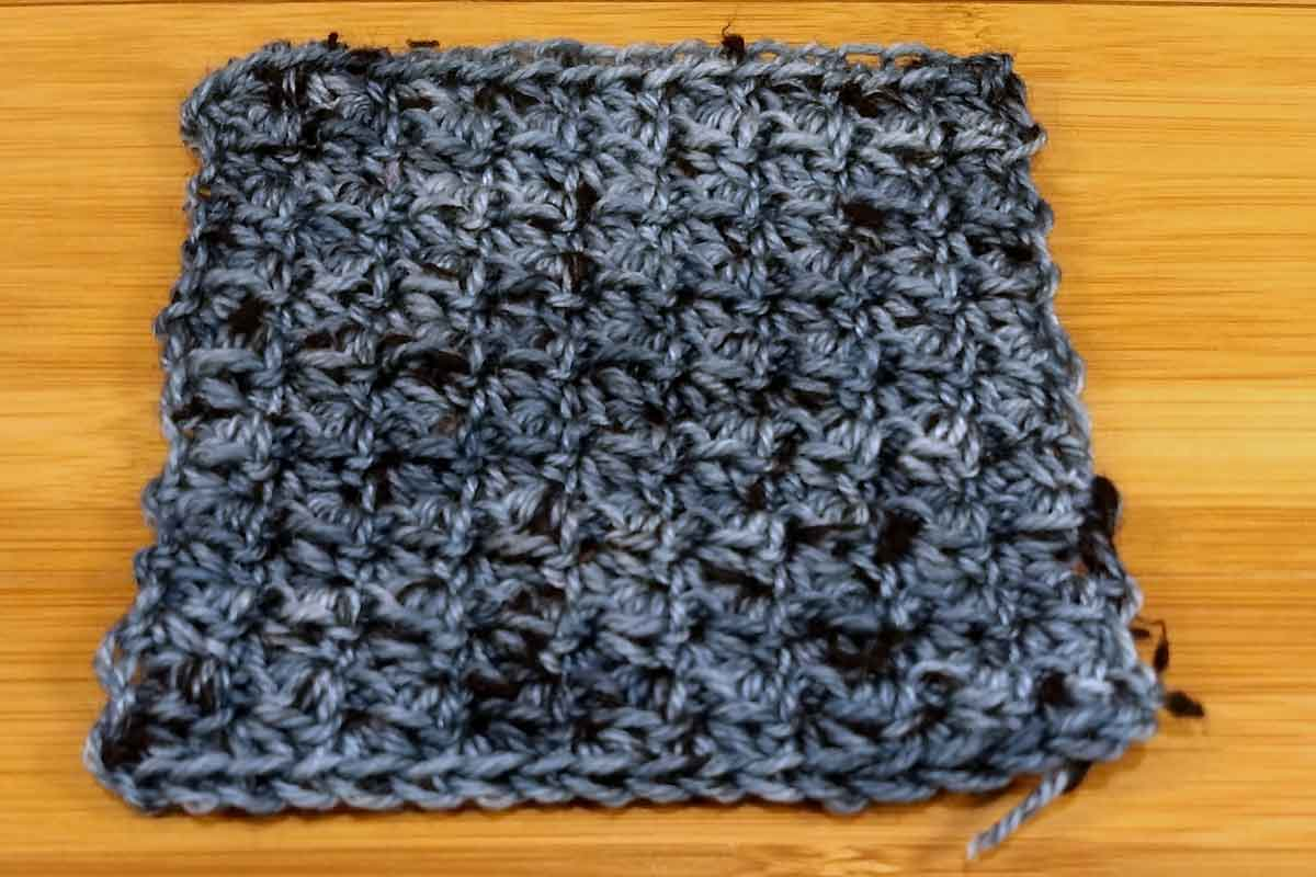 Dottie, texture crochet swatch