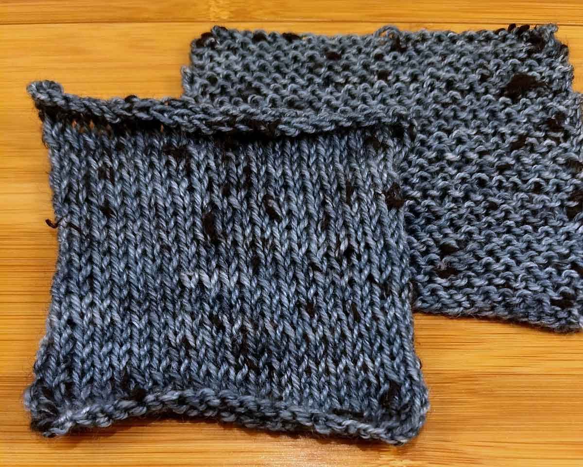 Dottie, knit swatches