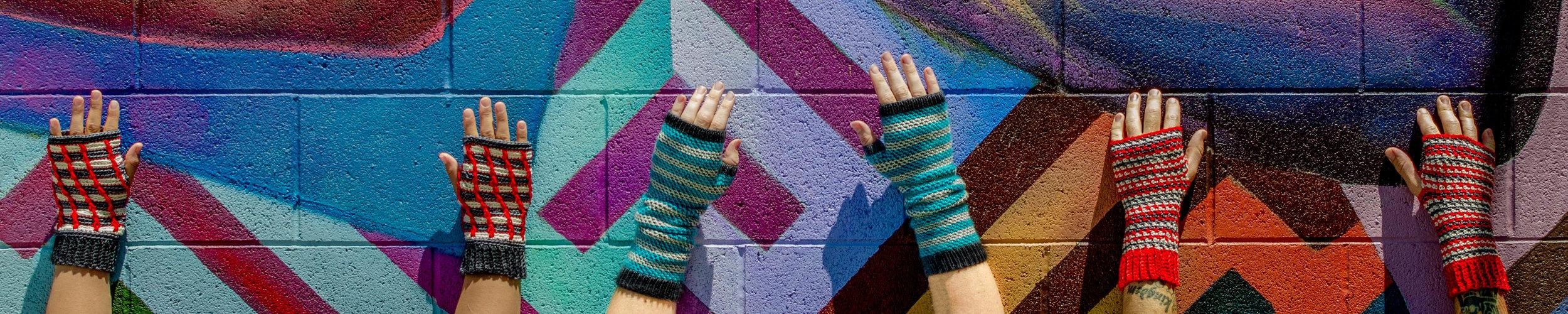 window glass roots radical dancing stripes fingerless gloves anzula linda dean knitsy knits serenity squishy.jpg