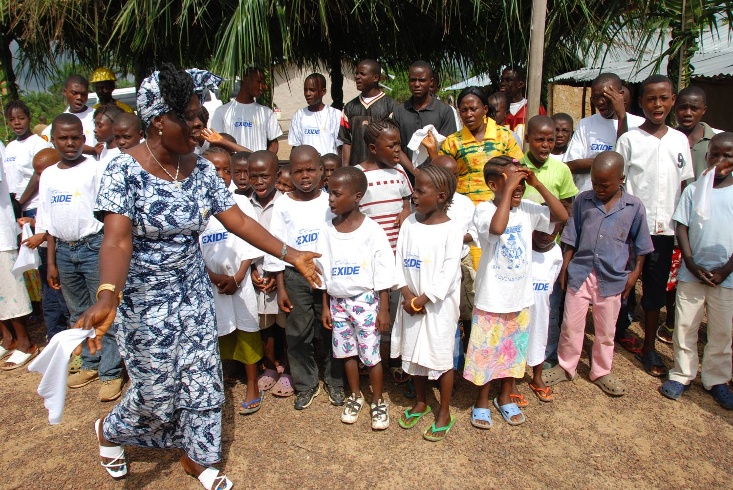 Balama, Liberia - Mother Elizabeth with orphanage children.jpg