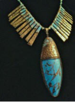 An example of Faux Turquoise by Debi Drew which will be the demo on Friday, November 14th from 6-9pm at Womancraft Gifts