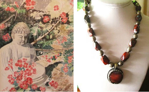 Quiet Contemplation  by Ralph Wikstrom, necklace by Susan Eastman