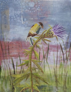 Finch with Thistle