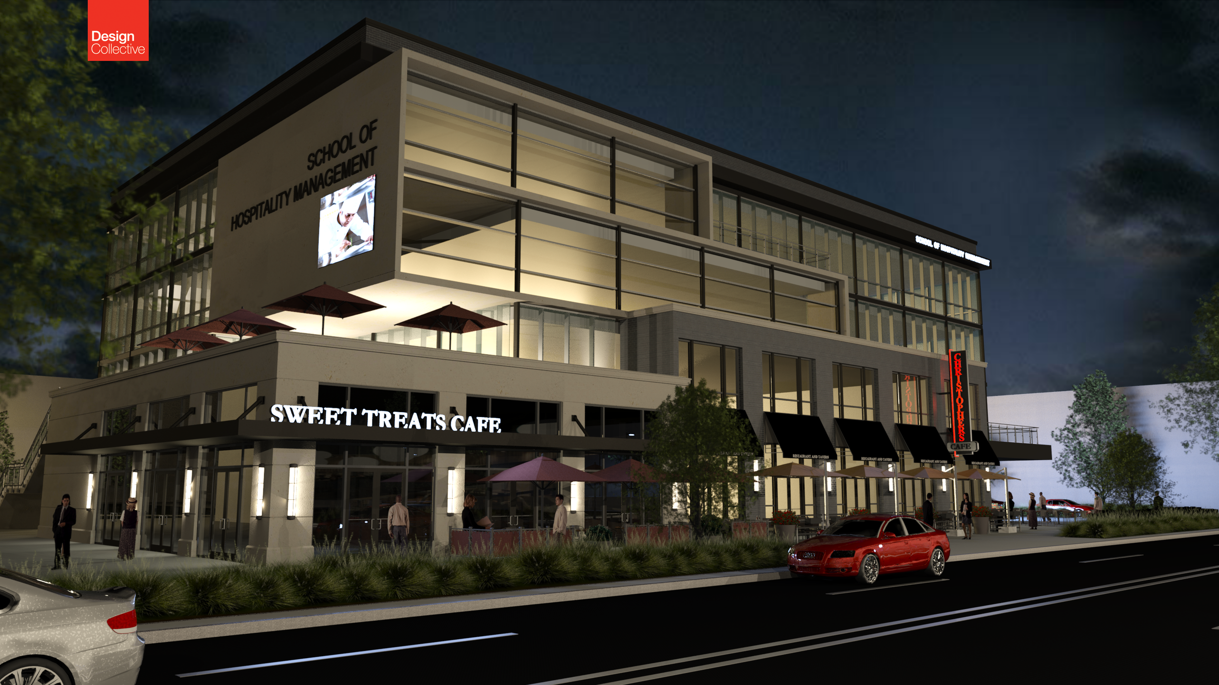 CSCC - School of Hospitality Management - Clev Ave Rendering 20160119 Night.png