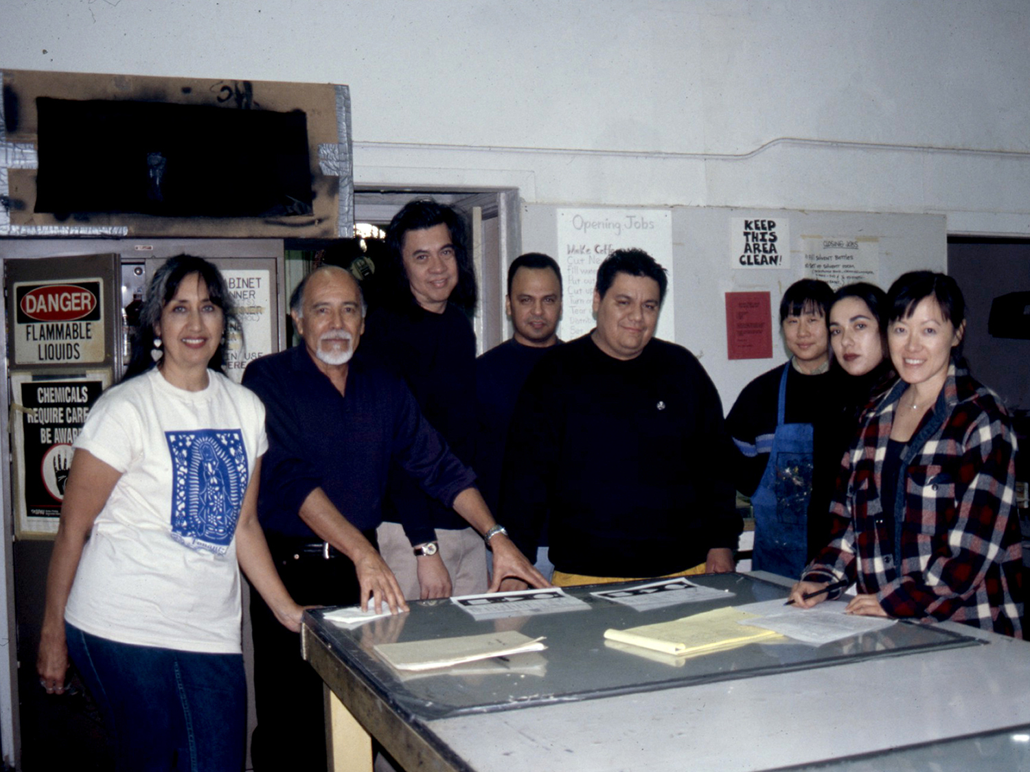 Collaborating artisits from Self Help Graphics, Los Angeles, CA. 2000