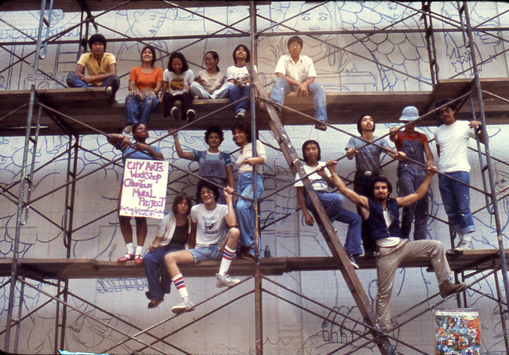 Wall of Respect for the Working People of Chinatown, community mural project, 1977