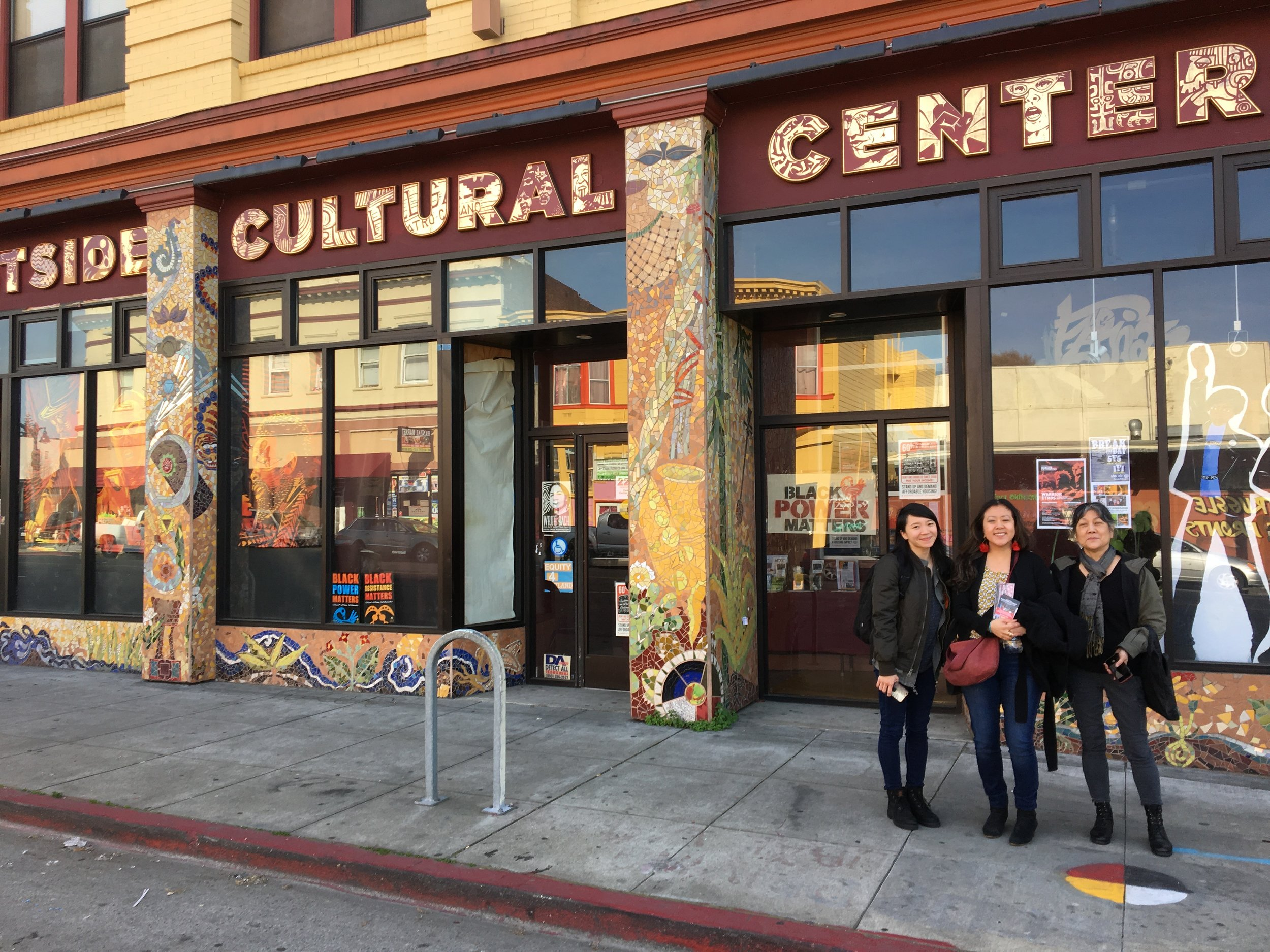 CAB co-founders, Betty Yu, ManSee Kong and Tomie Arai were recently invited to speak at the   Eastside Cultural Center   in Oakland. After our talk,Weston Teruya conducted an interview for his podcast,'unmaking' through Art Practical, that focuses on the work of artists of color. To hear the (un)making podcast:   https://soundcloud.com/artpractical/sets/un-making-podcast