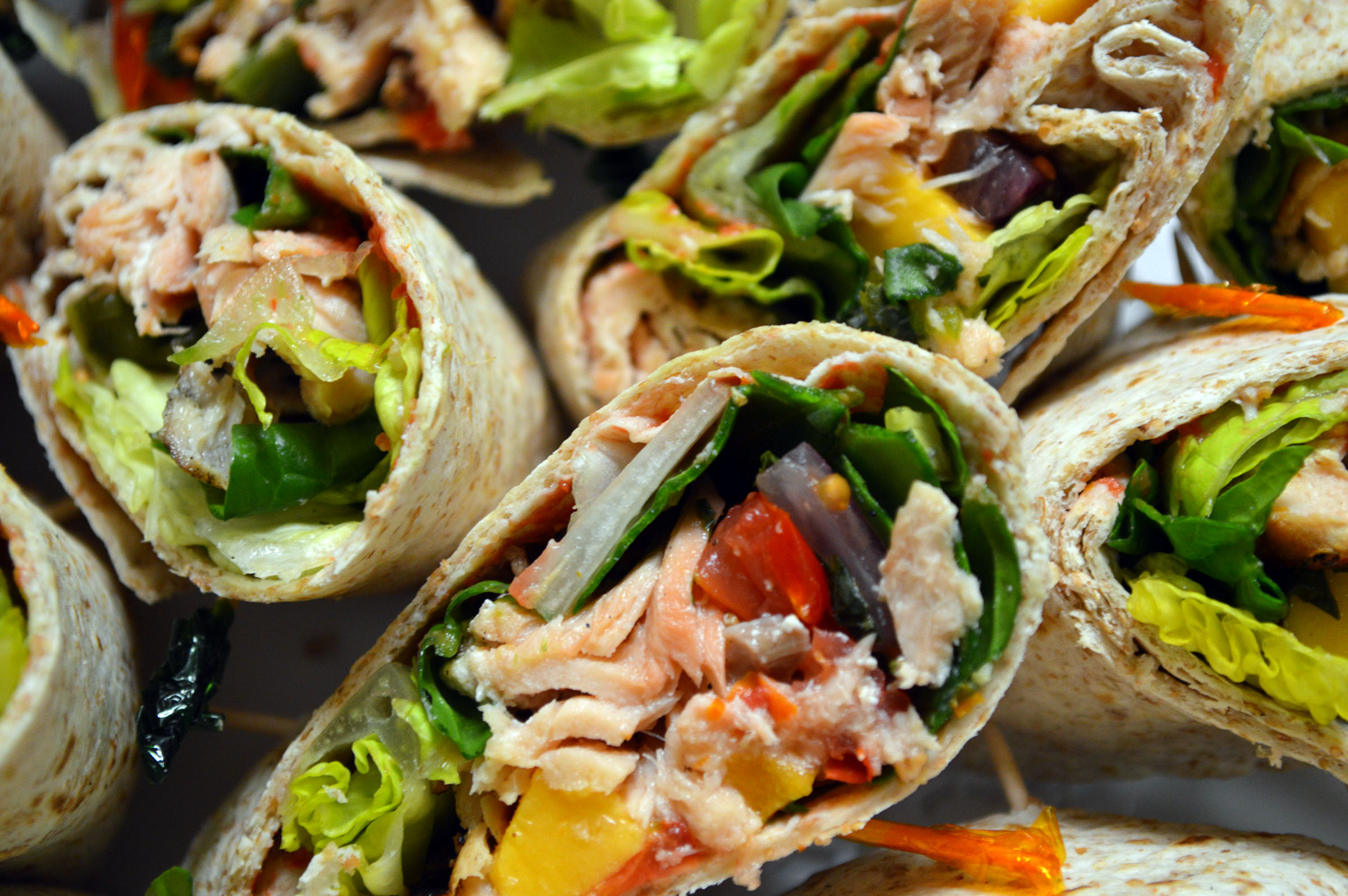 Wild Caught Grilled Salmon Wrap