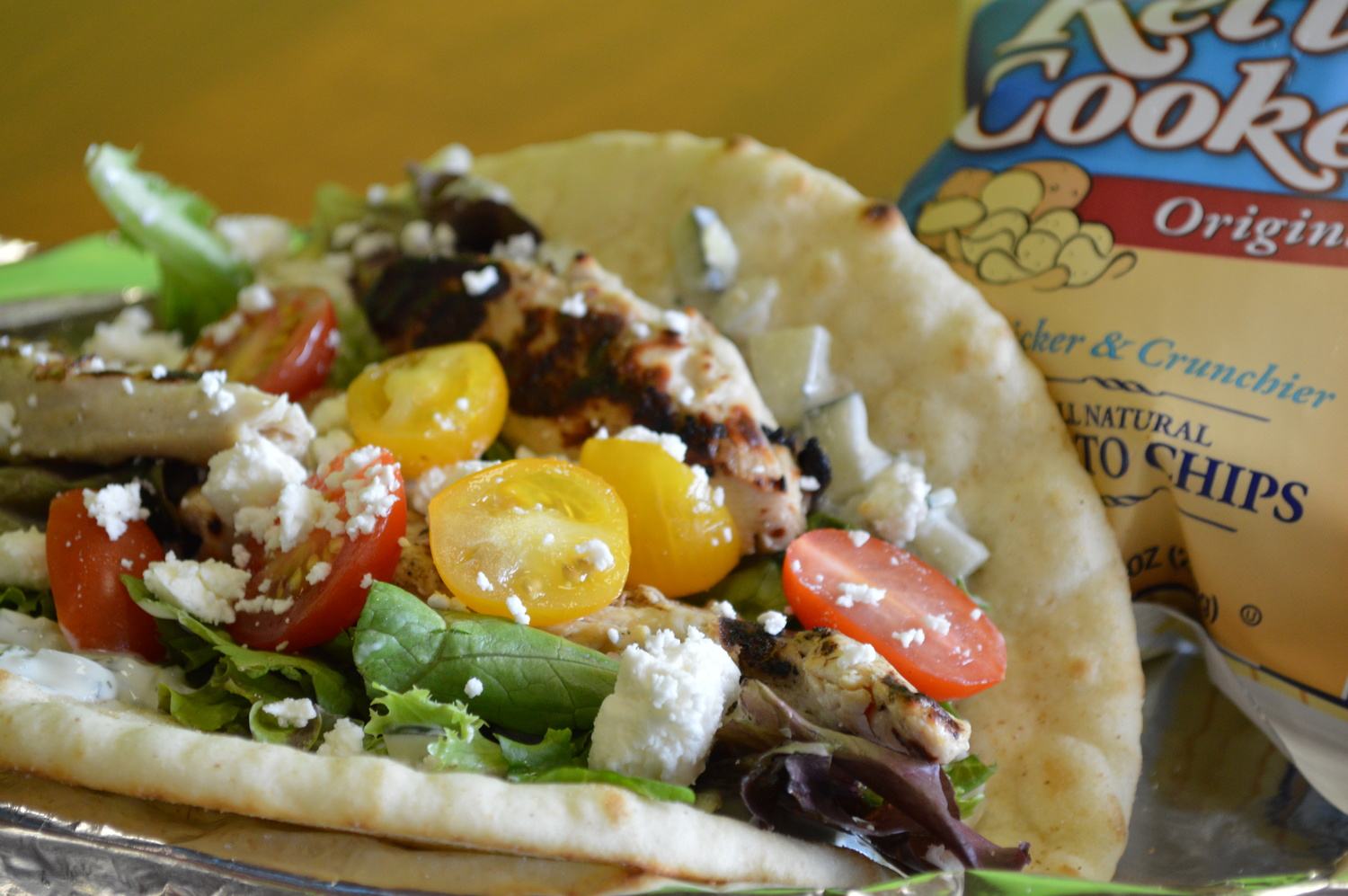 Our City Chicken Pita - With over 33 grams of protein, the City is the most popular item, 6 years running.