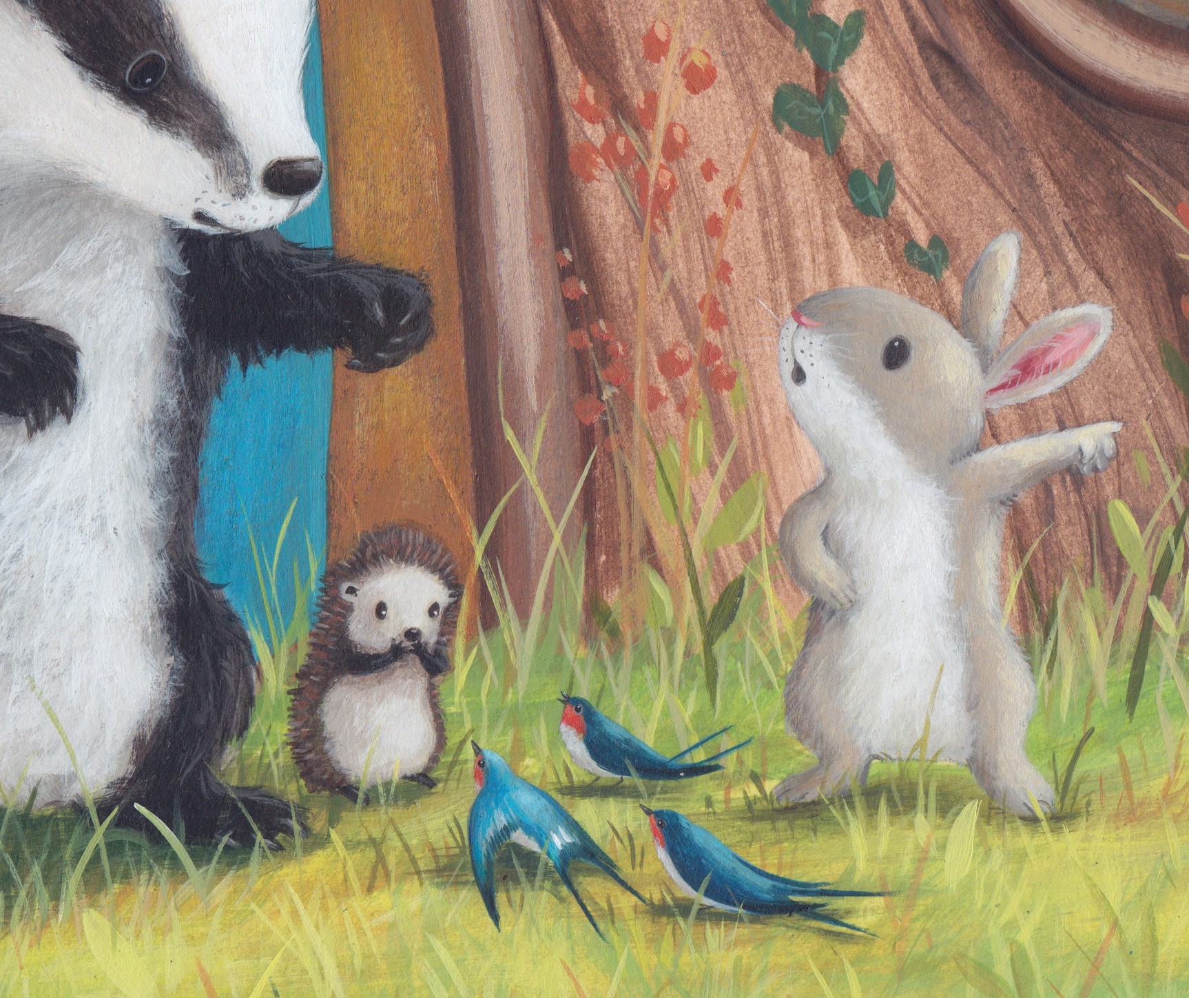 A snippet from my next book about Badger and his friends. I can't show anymore than this .