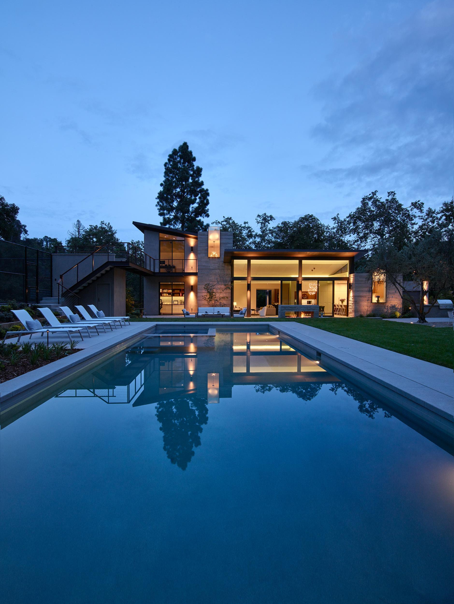 Mandeville house at twilight