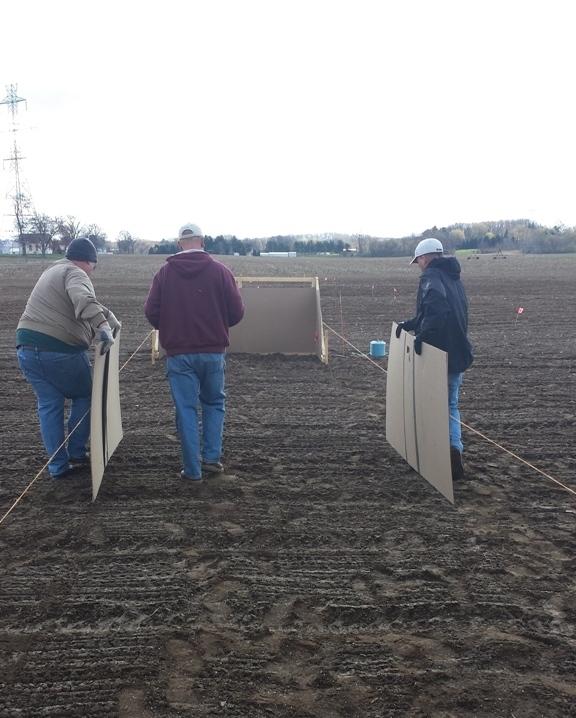 seeding forage and turf demonstration plots