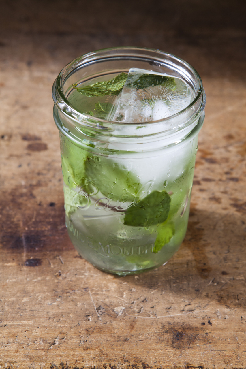 2 oz Chareau  1/2 oz Zubrowka Vodka  3/4 oz Fresh Lime Juice  1/2 oz Simple Syrup  3 oz Cucumber Soda  Shake Chareau, Vodka, Lime and Simple syrup with ice and strain into ice filled mason jar. Top with Cucumber Soda and garnish with Fresh Mint.    (To make the Cucumber Soda) Cut up slices of cucumber and put into bottle of Soda water. Let sit for a few hours.