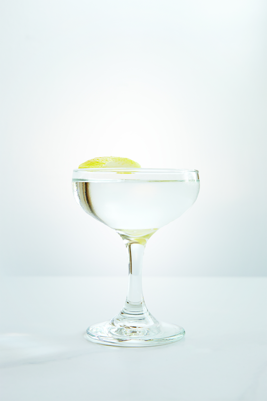 ALOE MARTINI   2 1/4 oz Vodka  3/4 oz Chareau    Stir over ice and strain into coupe. Garnish with Lemon Twist.