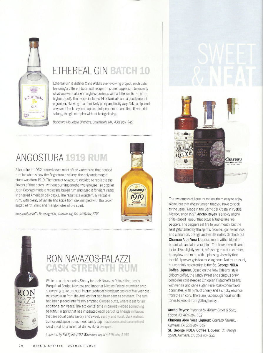 WINE & SPIRITS October 2014