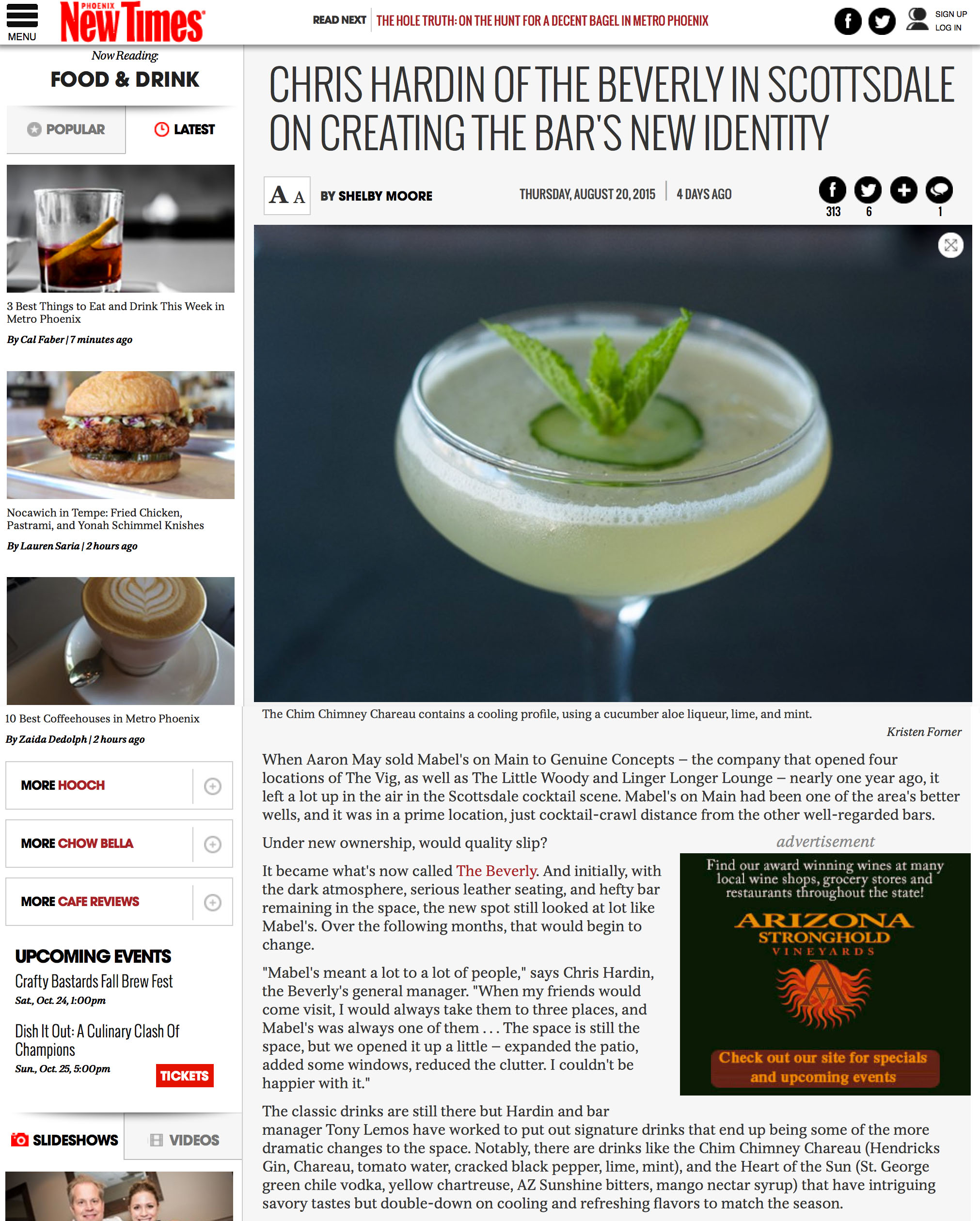 PHOENIX NEW TIMES August 2015