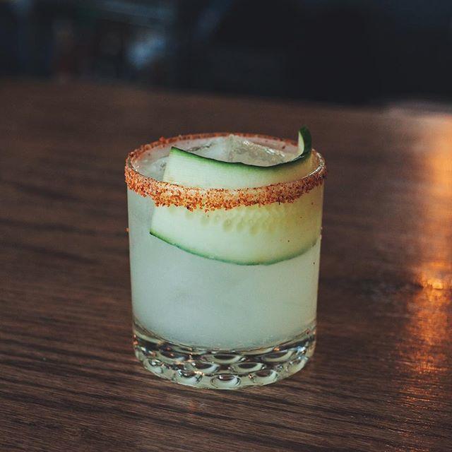 "Janek Evans - ""Aloe There"" : Aloe Chareau, Tequila, lime, Simple Syrup, celery bitters, Tajín"