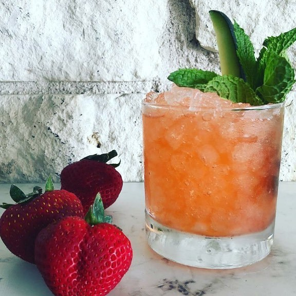 "Erica Mann - ""You Had Me At Aloe"" : Vodka, Chareau, Strawberry Syrup, Lemon"