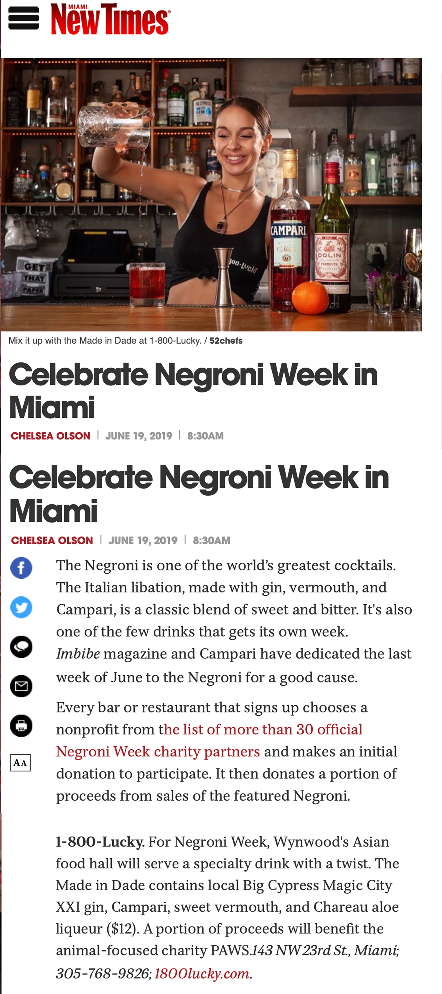 MIAMI NEW TIMES June 2019