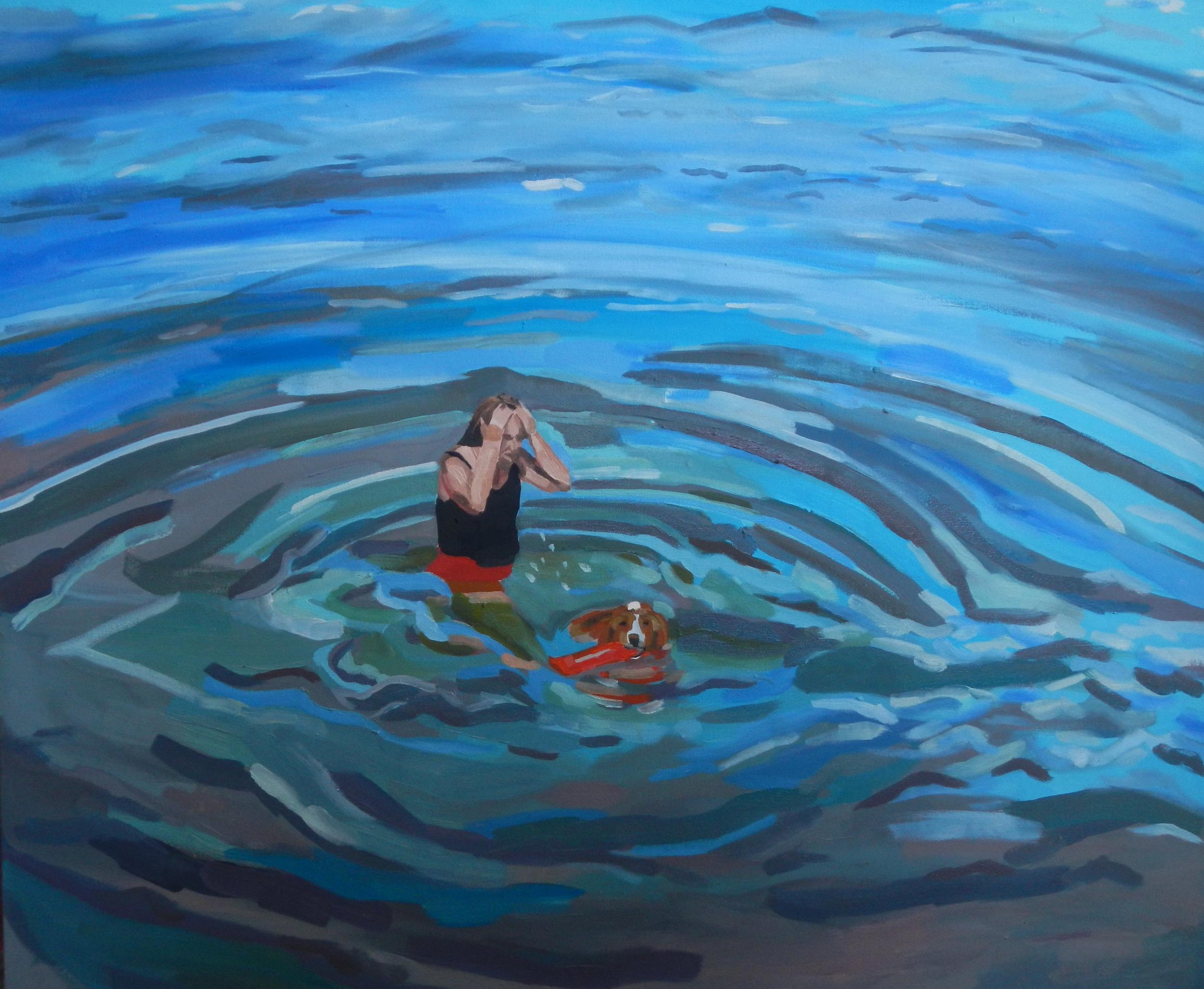 Sam & Linda swimming