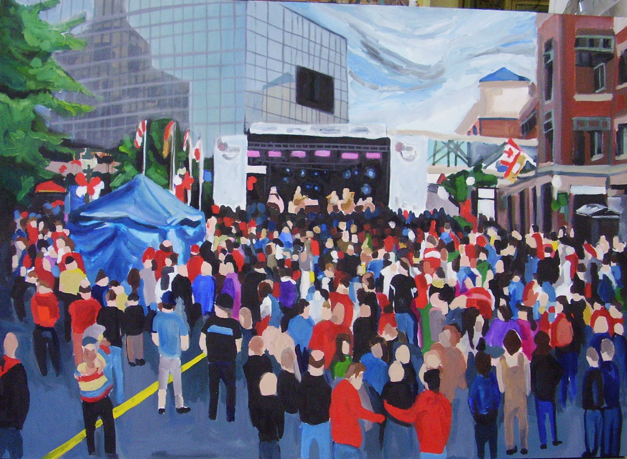 """48"""" x 60""""  oil on canvas  2010  Permanent collection of Cox & Palmer law firm-Moncton, NB"""