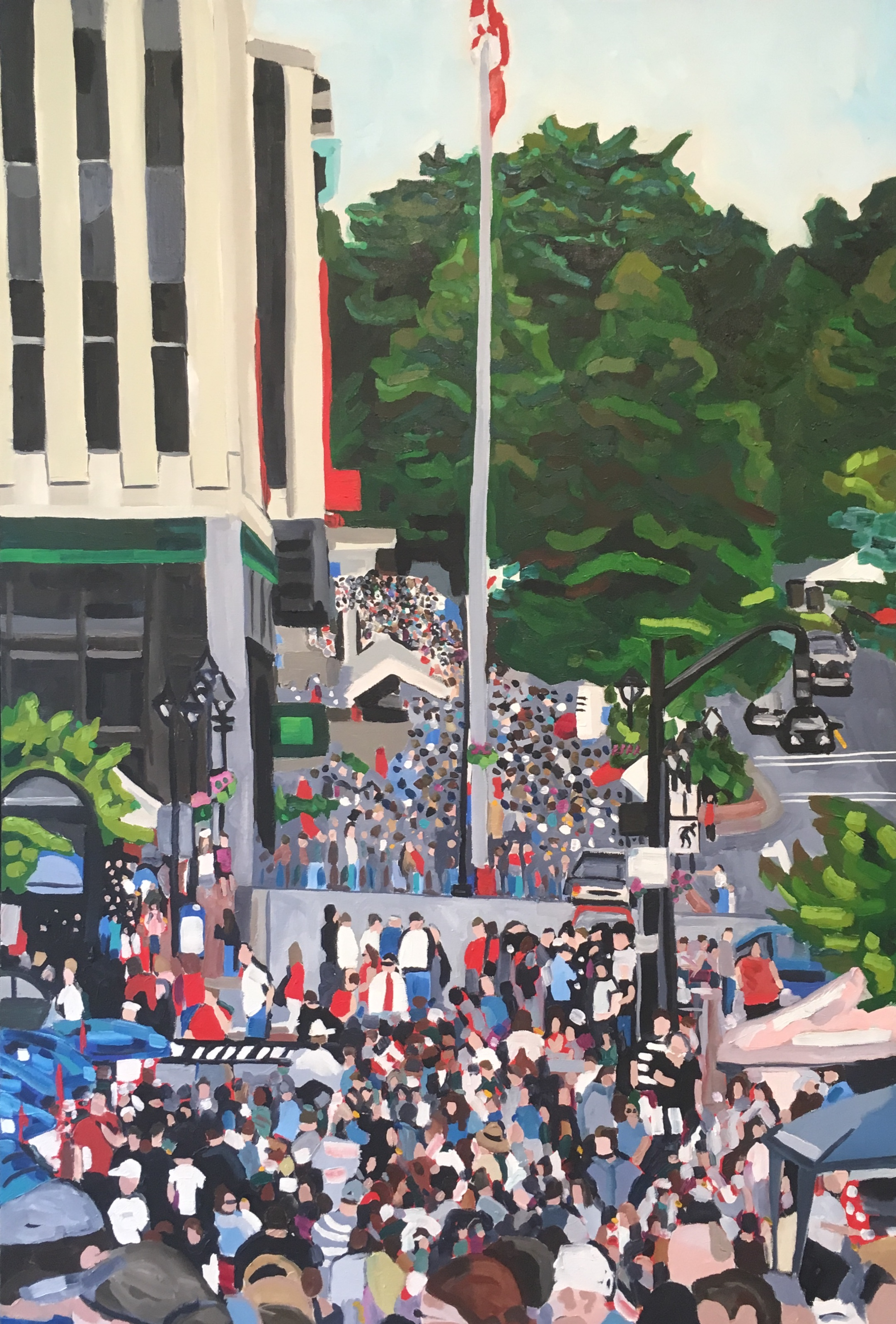"""48"""" x 36""""  oil on canvas  2011  Permanent collection of Stewart McKelvey Law firm, Saint John, NB"""