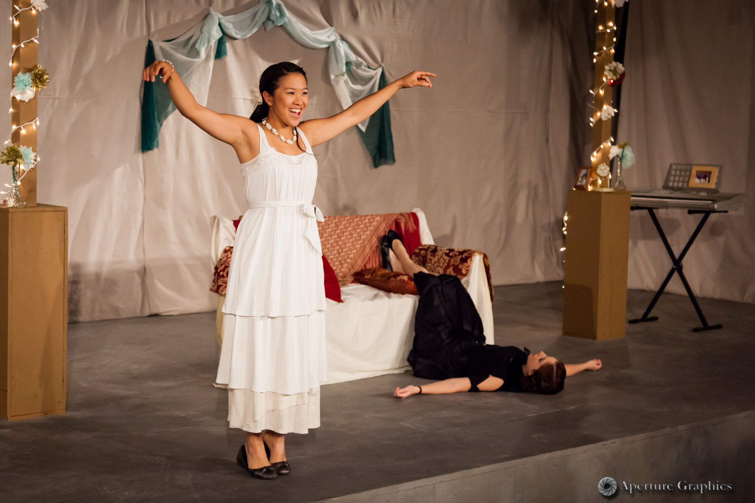 Katharine Chin and Carissa Cash in Three Sisters