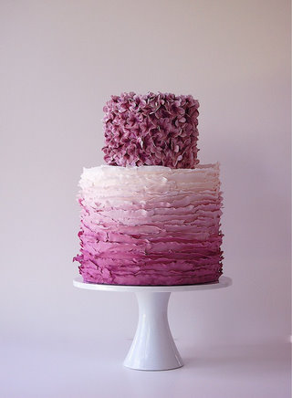Purple Ombre Cake by Maggie Austin Cake via Postcards and Pretties