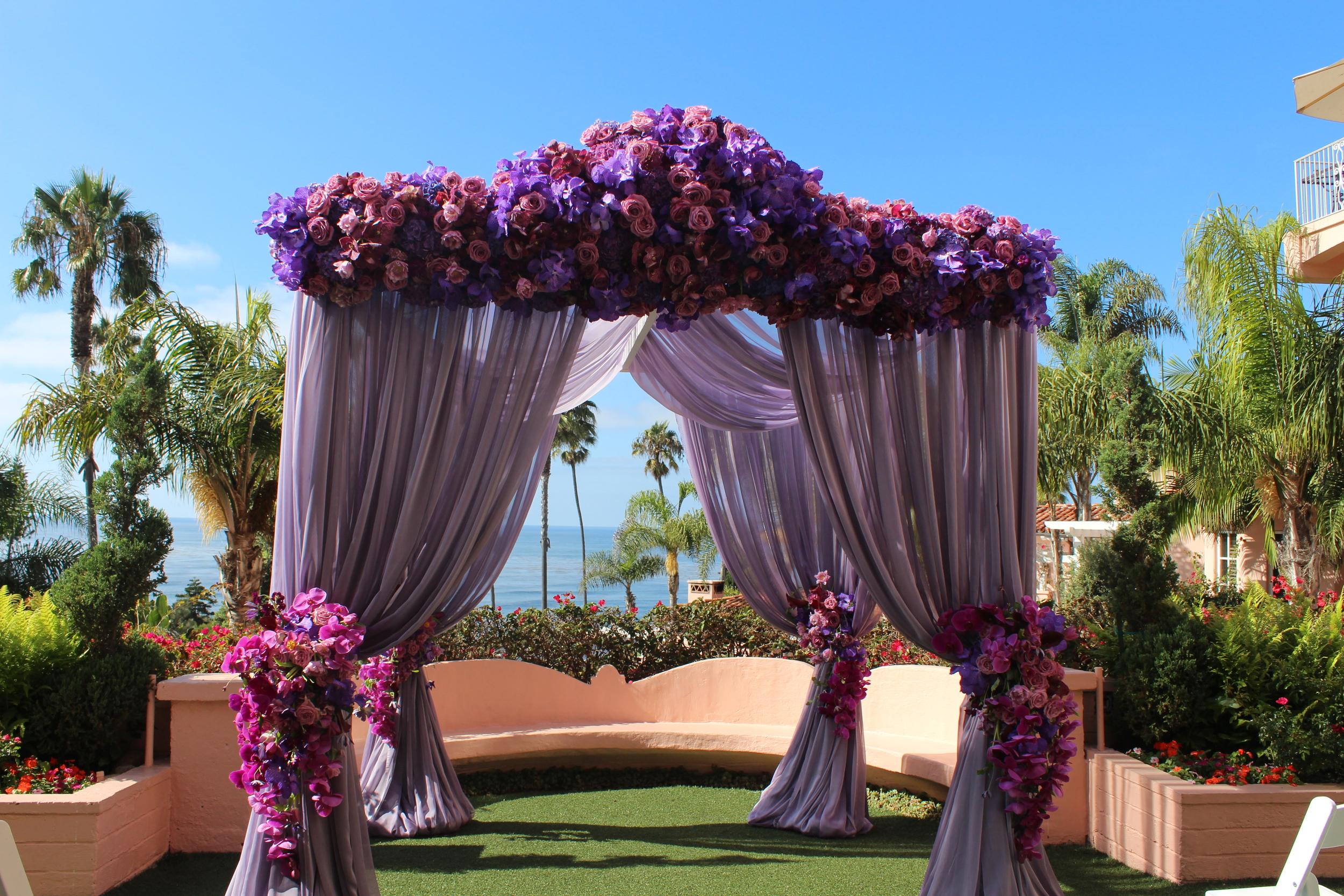 Karen Tran Lavender Ceremony Canopy