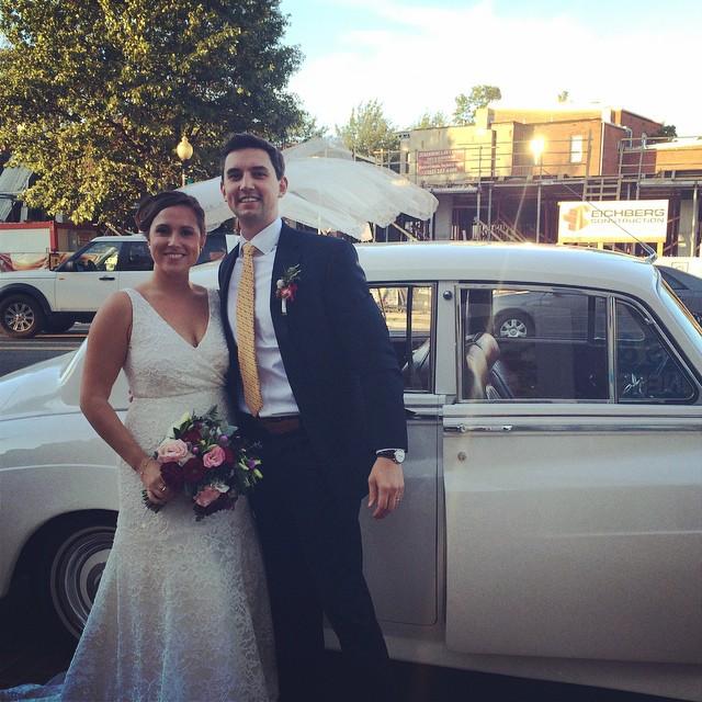 JoAnna Dee Weddings DC Bride and Groom Vintage Car