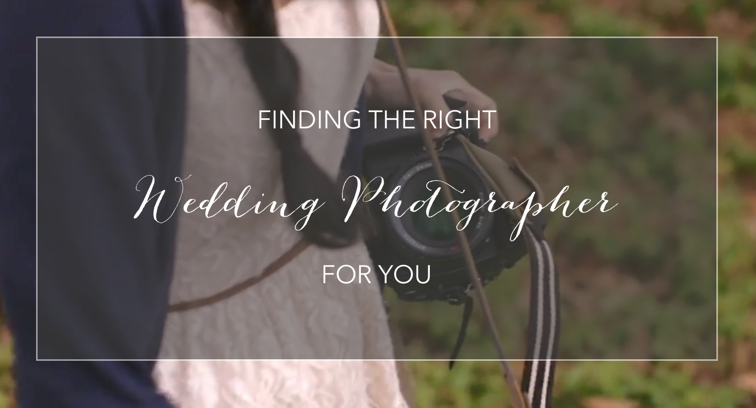 Finding the Right Wedding Photographer for you by JoAnna Dee Weddings