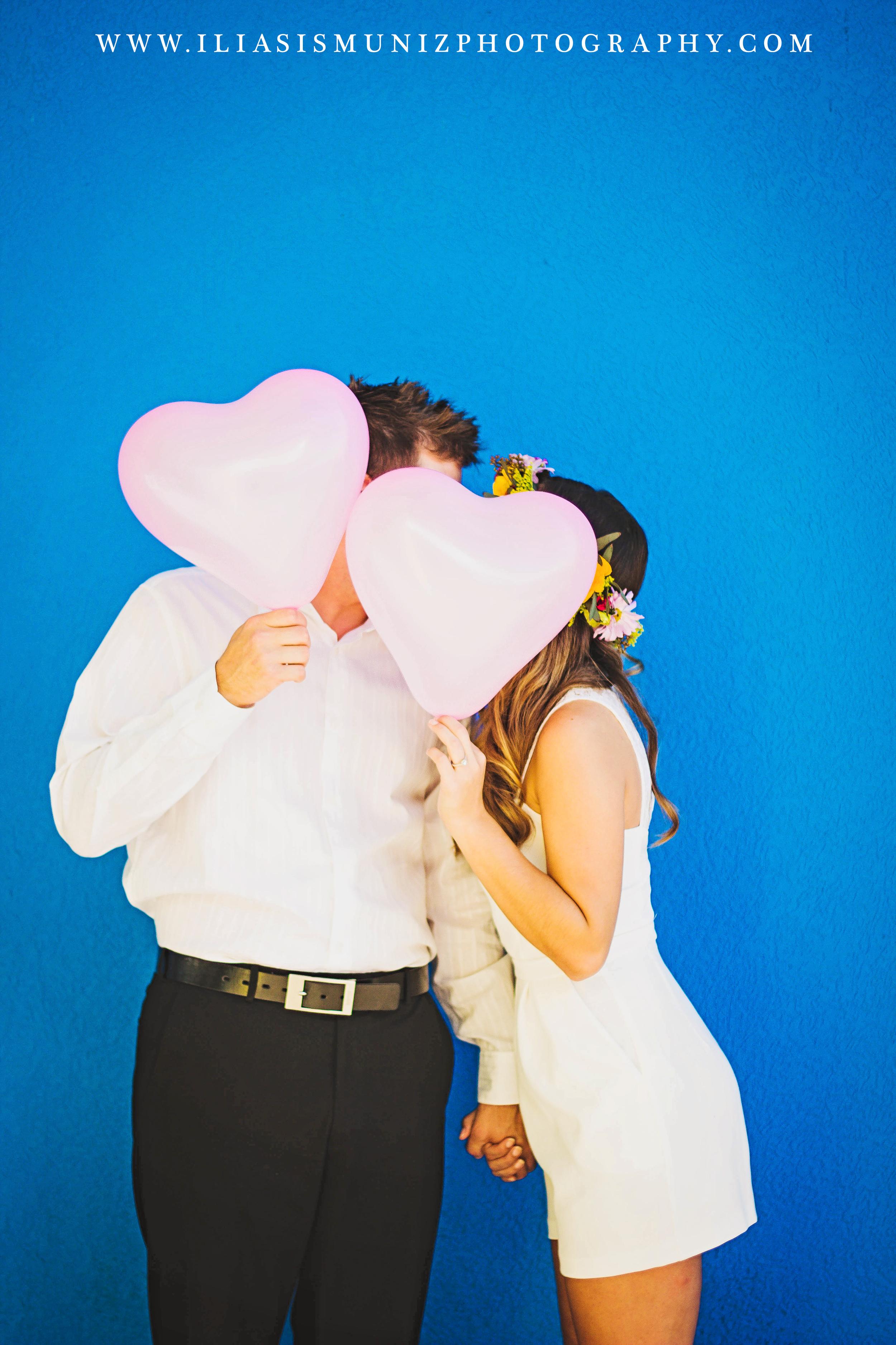 Heart Shaped Balloons | South Padre Island Engagement Shoot