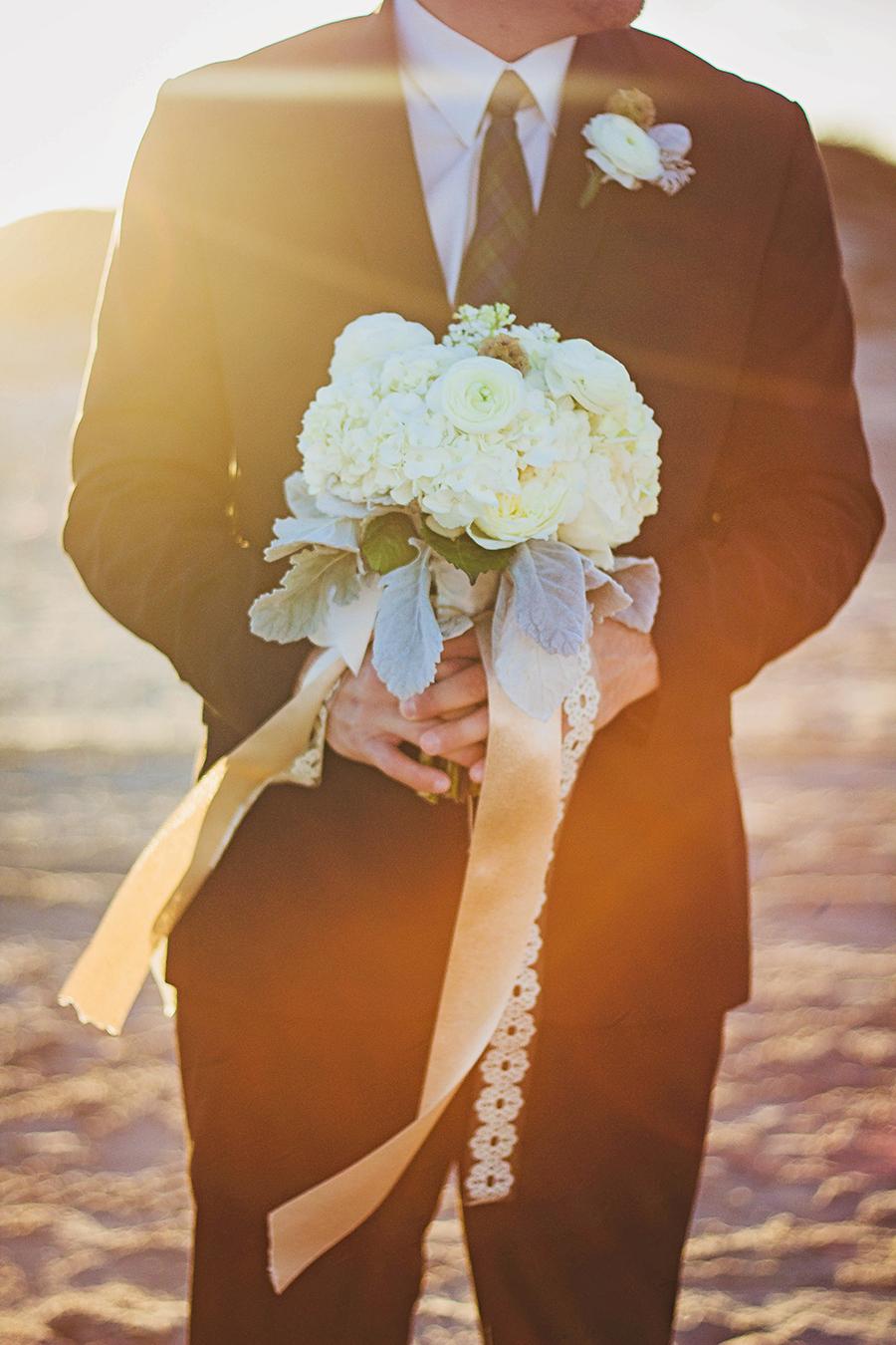 White Bouquet | Beach Wedding | JoAnna Dee Weddings