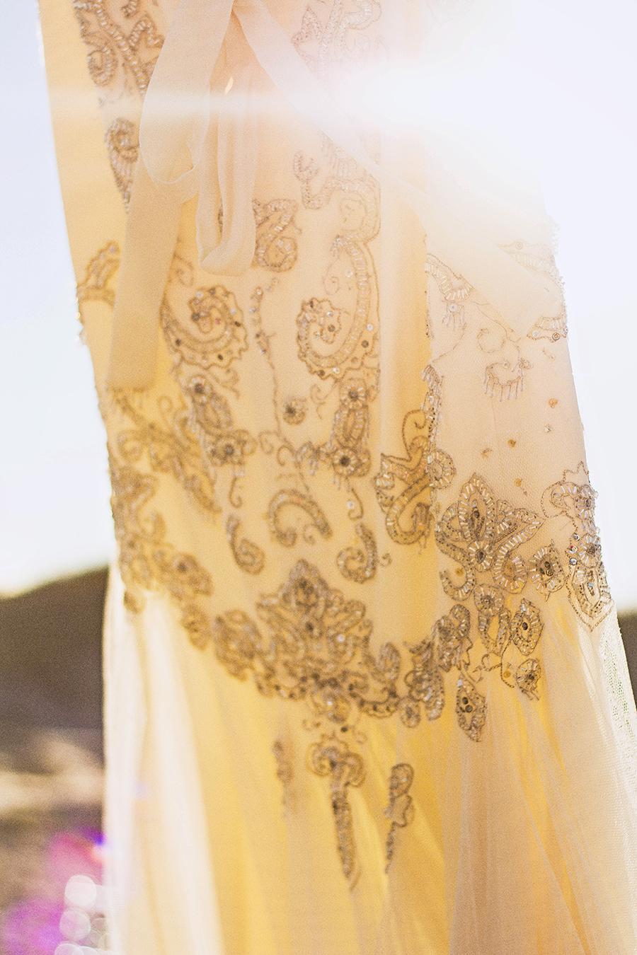 Vintage Wedding Gown | South Padre Island Wedding | JoAnna Dee Weddings