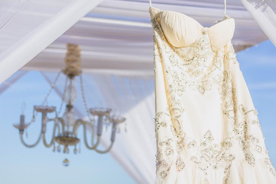 White beach ceremony | South Padre Island Wedding | JoAnna Dee Weddings