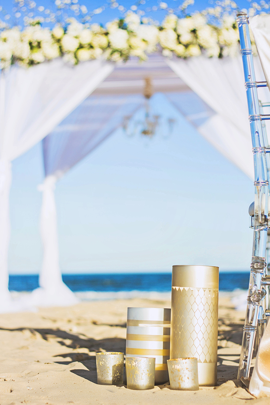 White and Gold Beach Ceremony | South Padre Island
